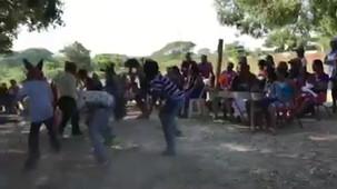 """Impresionante labor de los maestros por preservar la cultura y las costumbres de nuestros pueblos afros.  Así, nos recibieron en Santo Domingo Armenta Oaxaca, la Primaria Ignacio Manuel Altamirano con la """"Danza de los diablos"""".  ¡Felicidades!"""