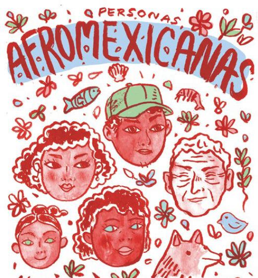 Iurhi Peña y su cómic titulado Personas Afromexicanas.