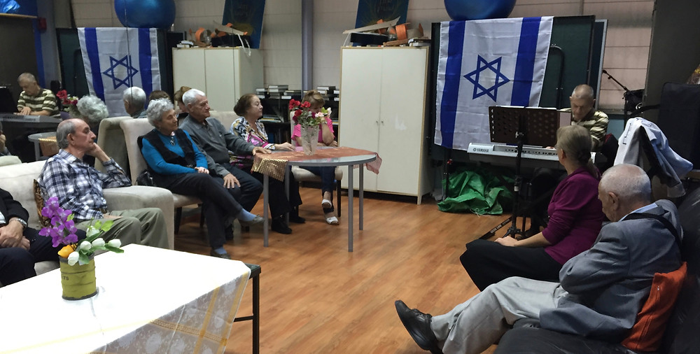 Social gather for Holocaust Survivors