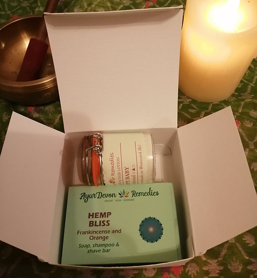 Hemp, Frankincense and Orange/Patchouli All-in-one Bar and Lotion