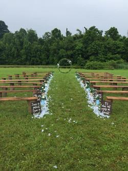 wedding benches