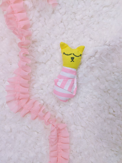 kitty in stripes baby doll