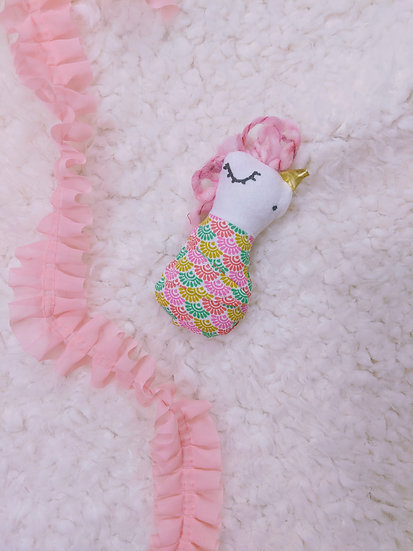 unicorn with scallops baby doll
