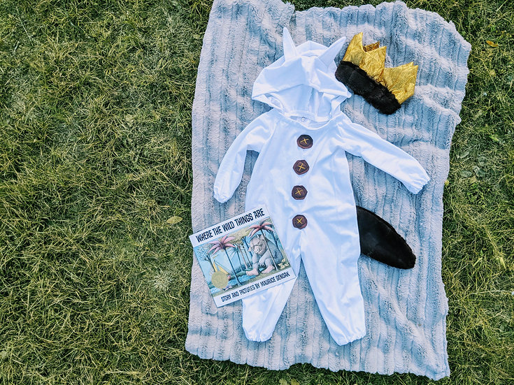 where the wild things are max inspired costume & crown & tail & hood