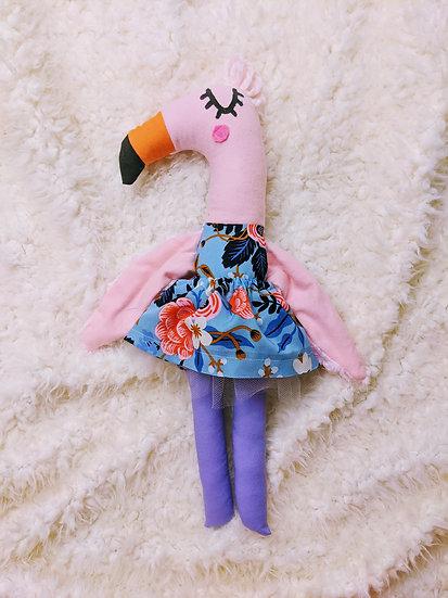 flowers in blue fmaingo doll