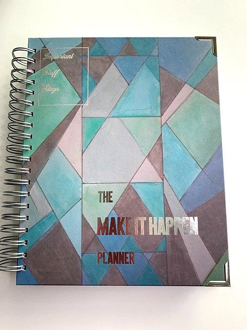 The MAKE IT HAPPEN Planner, Watercolor