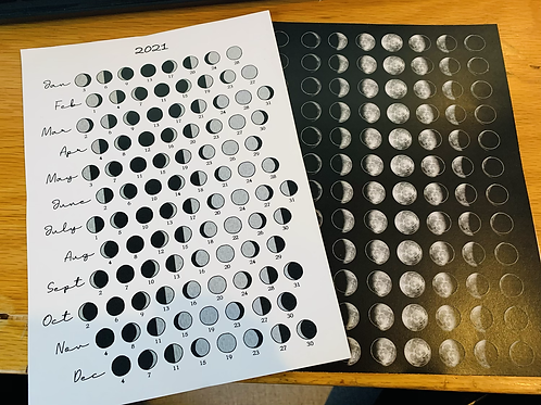 2021 Moon Guide & Stickers