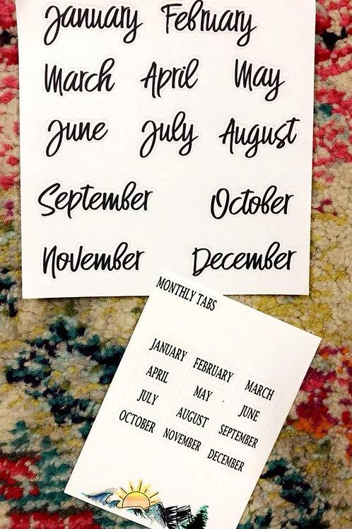 Handwritten Font Monthlies