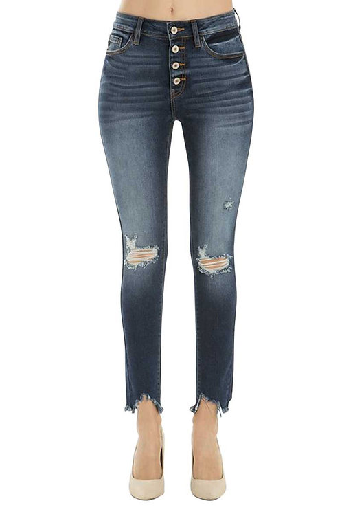 KanCan Gemma High Rise Distressed Skinny