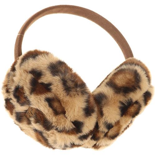 CC BeaniePlush Leopard Earmuffs