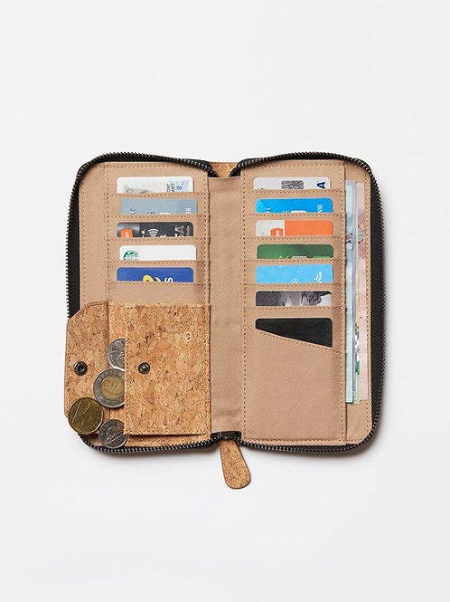 tentree Cork Zipper Wallet