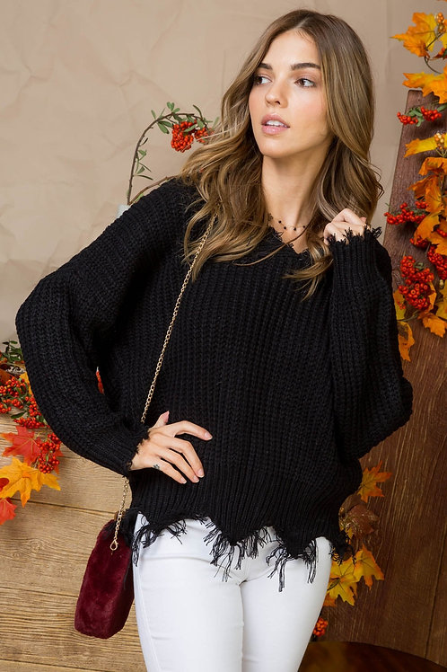 Destructed Fall Sweater