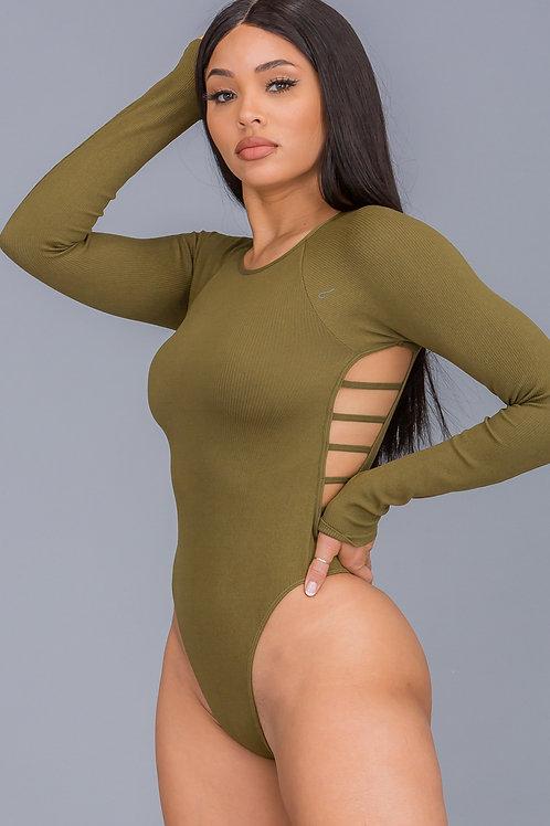 Olive Strappy Bodysuit