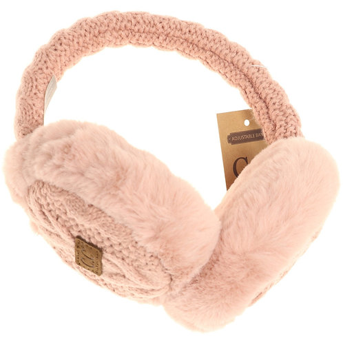 CC Beanie Cable Knit Earmuffs