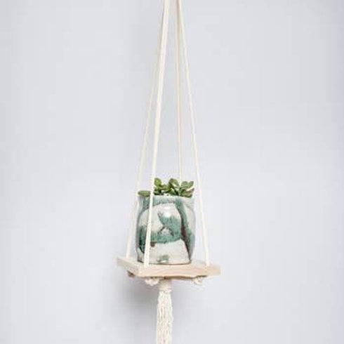 Cream Hanger with Shelf