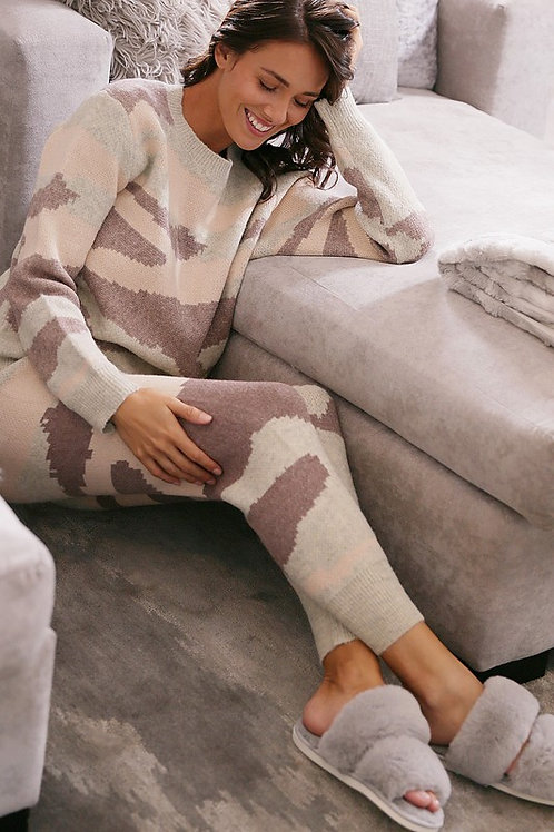 Camo Sweater Pajama Set