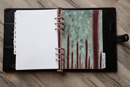 Watercolor Monthlies a5 MAKE IT HAPPEN planner