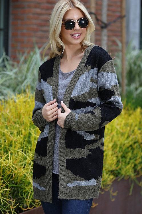 Camo Cardi Sweater