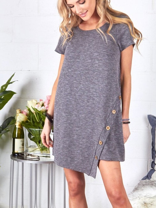 Charcoal Knee Length Dress