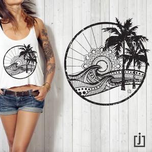 CircleWaveSet_ScratchedBLACK_tshirt.JPG