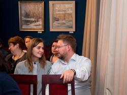 В.Есауленко в зале музея Цветаевой