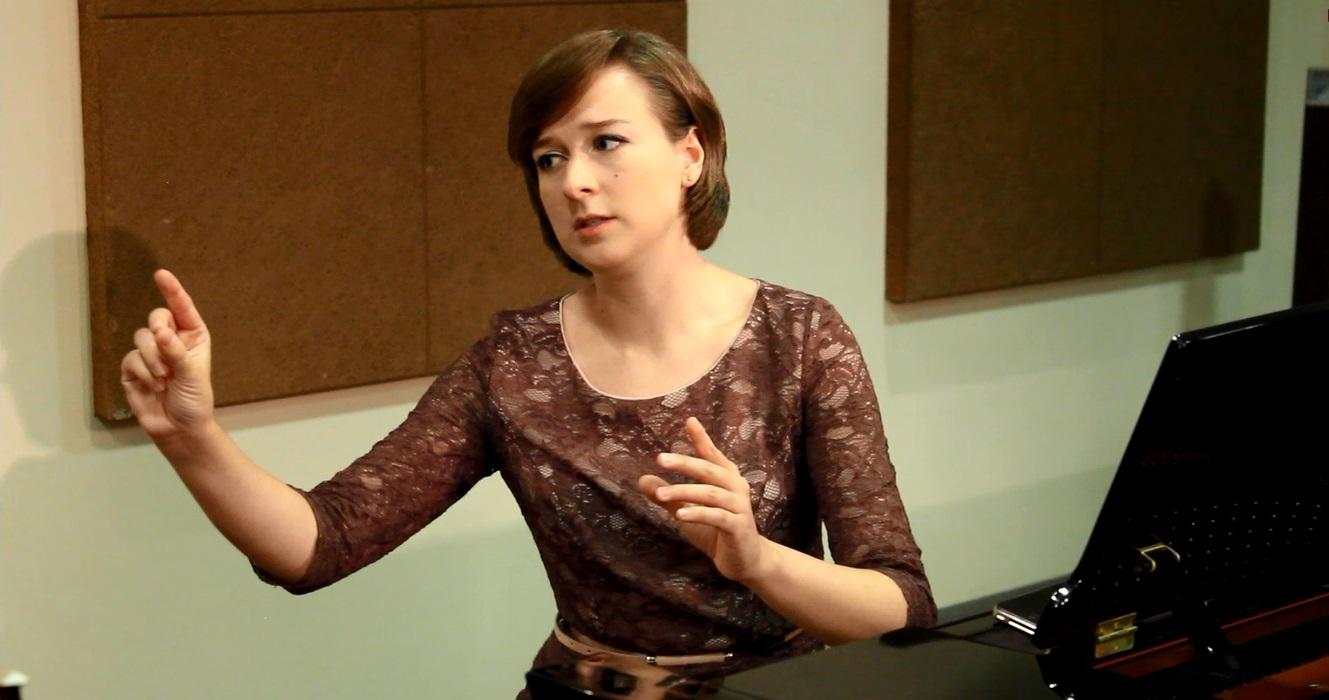 Елена Тарасова на репетиции