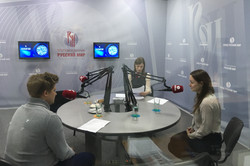 Елена Жук и Леонид Солиенко в эфире