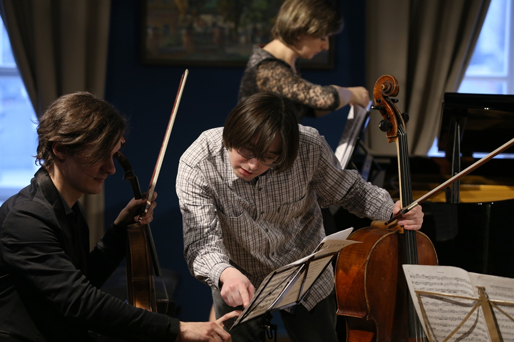 Репетиция трио Брамса