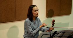 Анна Янчишина на репетиции