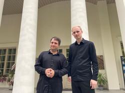 Алексей Кудряшов и Андрей Дубов  после концерта