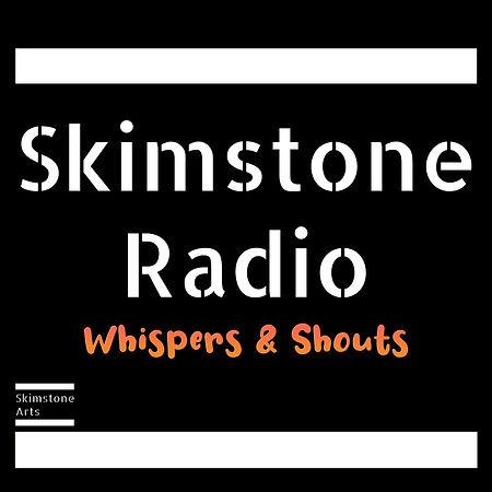 skimstone radio logo black orange whispe