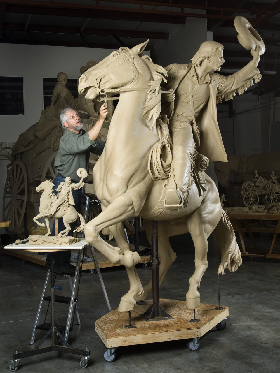 Blair working on The Wagon Master