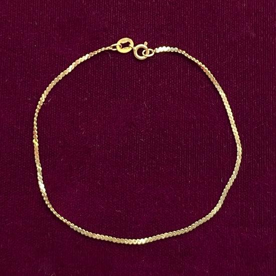 "Bracelet- 14kt gold length 7""."