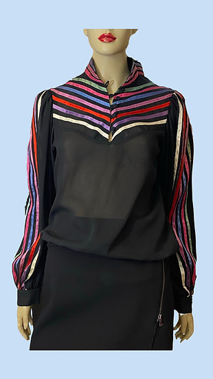 Top- Great look. Size M Synthetic crepe sheer .