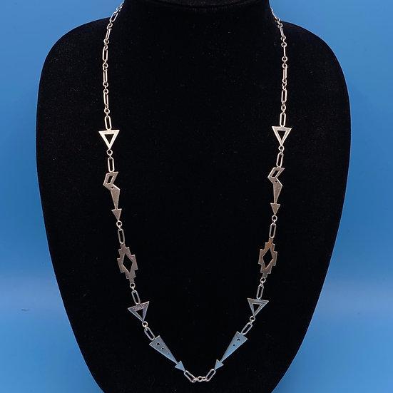 Necklace- Sterling silver signed southwest motif