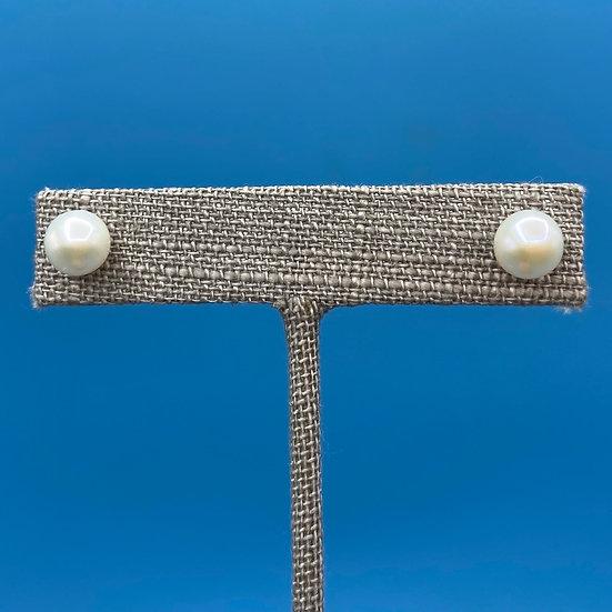 Earrings-pearl 14kt gold