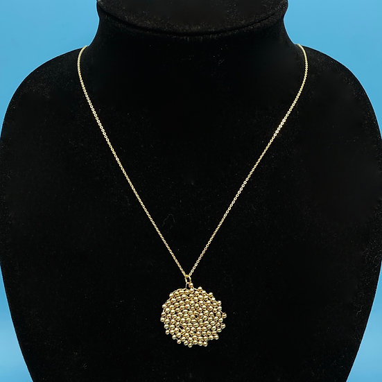 """60's Mod necklace folate gold tone ball cluster length 18"""""""
