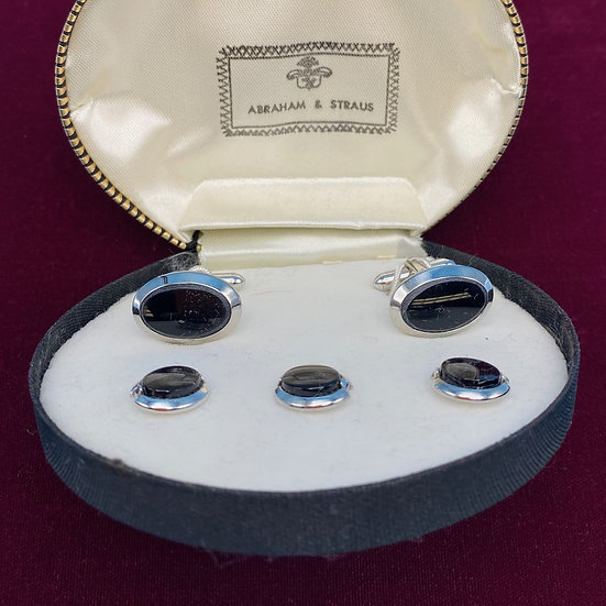 Men's- Abraham and Strauss cuff-links and studs.