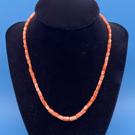 "Necklace- single strand coral necklace 16"" length."