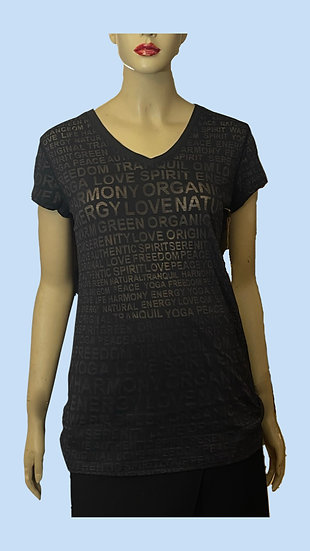 Top- Eco yoga.  Size L 60% Gand Cotton.  40% recycled polyester.