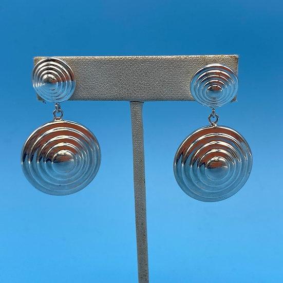 Earrings- Sterling silver3D effect.