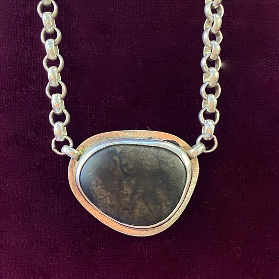 Necklace- Signed Artist Amy Faust Sterling/ stone