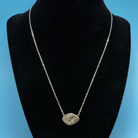 """Necklace -Signed SAMUAL B  Behnam Silver and 18kt gold. Length 18"""""""