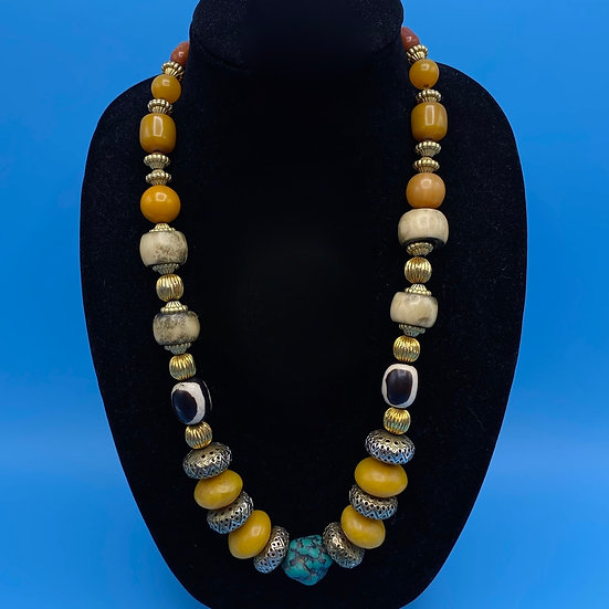 """Necklace- earth look 24"""""""