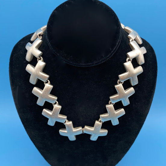 """Necklace - signed Anne Klein -Tiffany influence 16-18"""" length"""