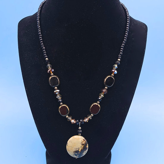 Necklace- natural stones/crystals  length 24""
