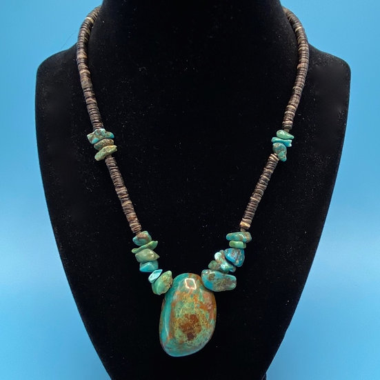 """Necklace- natural stone  length 18"""""""