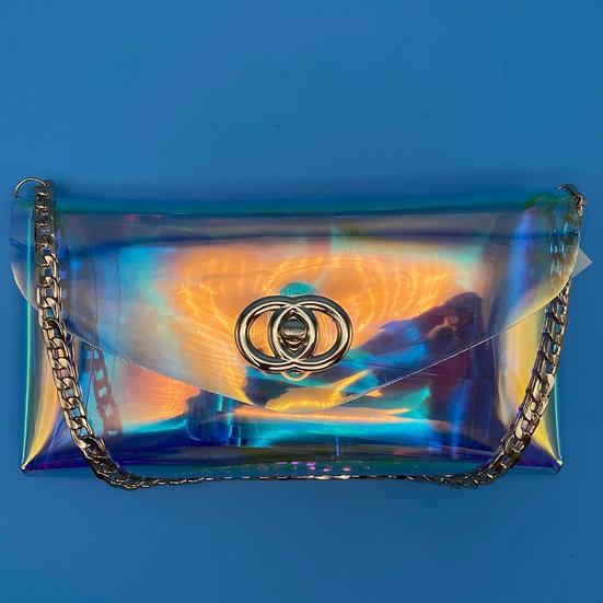 Bag-transparent-clutch- waist belt
