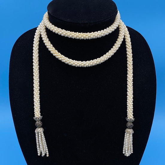 """Lariate-Faux pearls Length 46"""""""