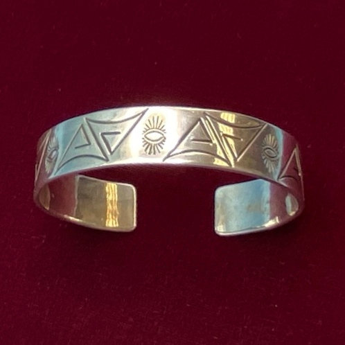 Bracelet- Sterling silver Aztec etching